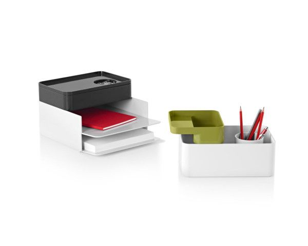 These Modular Components Bring Order To That Desktop Chaos By Adapting To Your Particular Stor Desk Accessories Office Furniture Accessories Modern Accessories