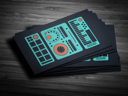 Amazing Dj Business Cards Psd Templates Design Graphic Design Junction Dj Business Cards Music Business Cards Design Flat Design Business Card
