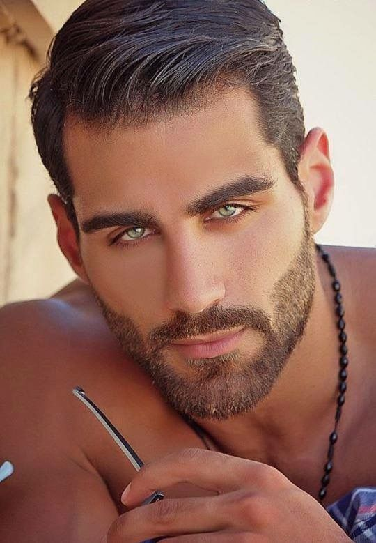 Hot men with green eyes