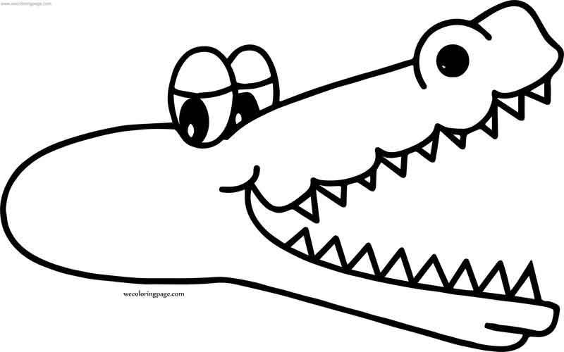 Too Crocodile Alligator Coloring Page Coloring Pages Coloring