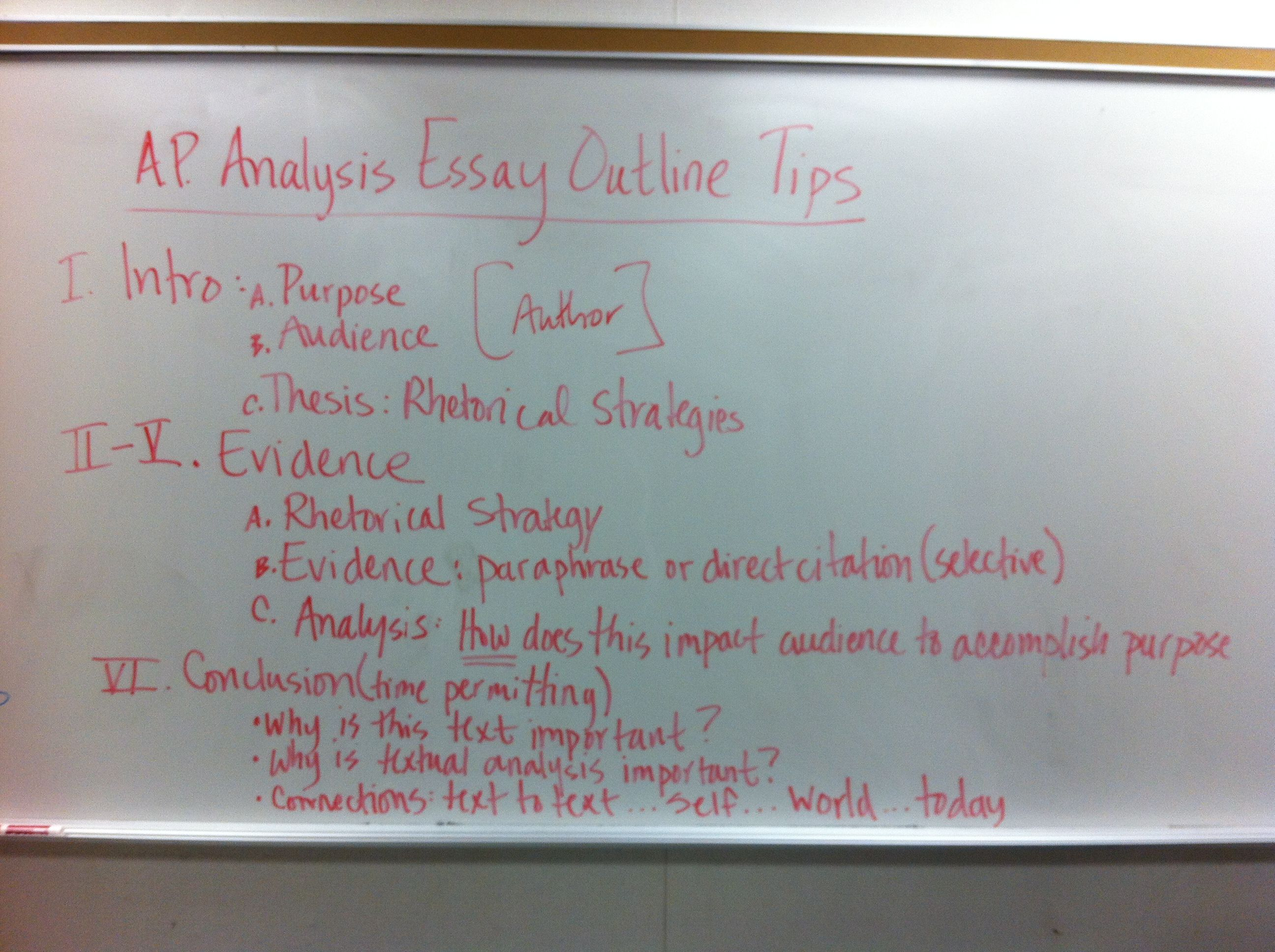 rhetorical analysis outline | College | Pinterest | Ap english ...