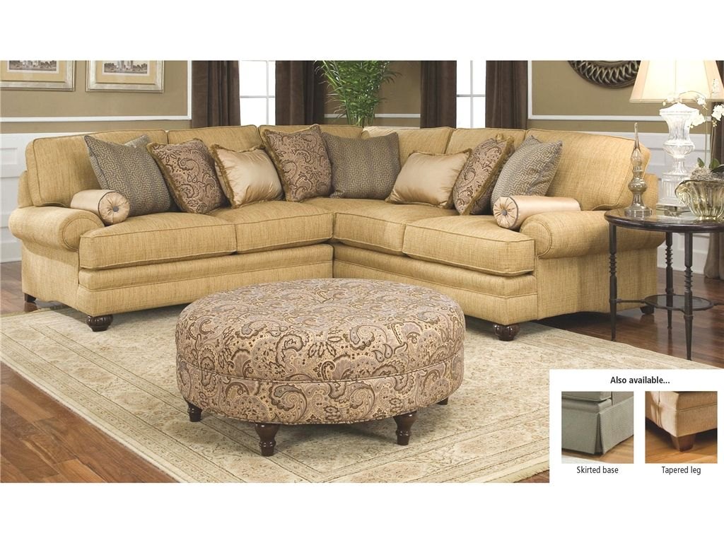 Smith Brothers 376 Traditional Styled Corner Sectional Sofa   Sheelyu0027s  Furniture Appliance   Sofa Sectional Ohio, Youngstown, Cleveland, P.