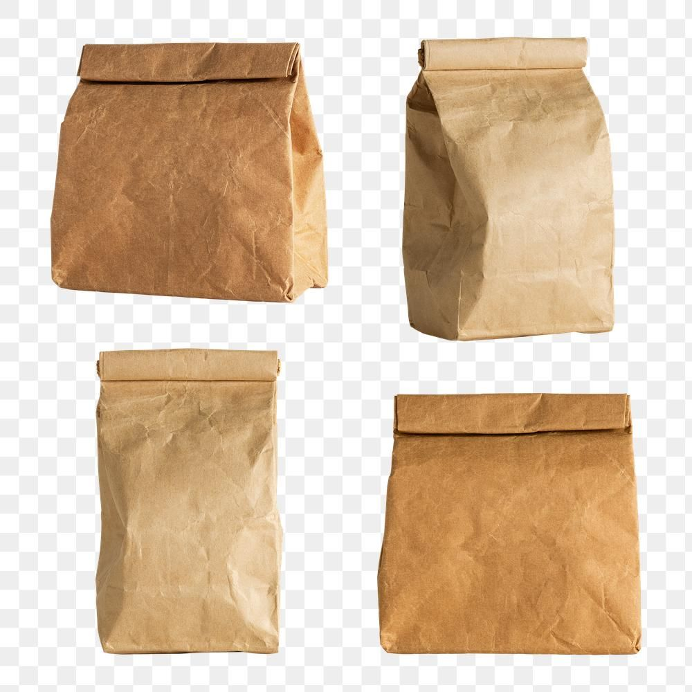 Rolled Brown Paper Bag Design Resources Free Image By Rawpixel Com Kwanloy Sticker Paper Bag Paper Bag Design Brown Paper Bag