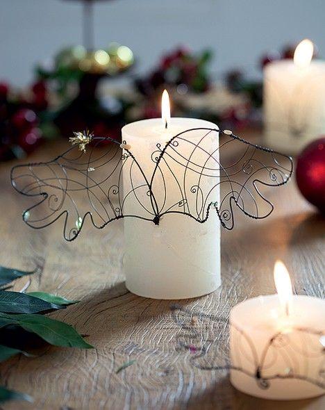 Precisa de leveza na decoração? Taí uma ideia com velas que só falta sair voando! #christmas #natal #navidad | Christmas decor