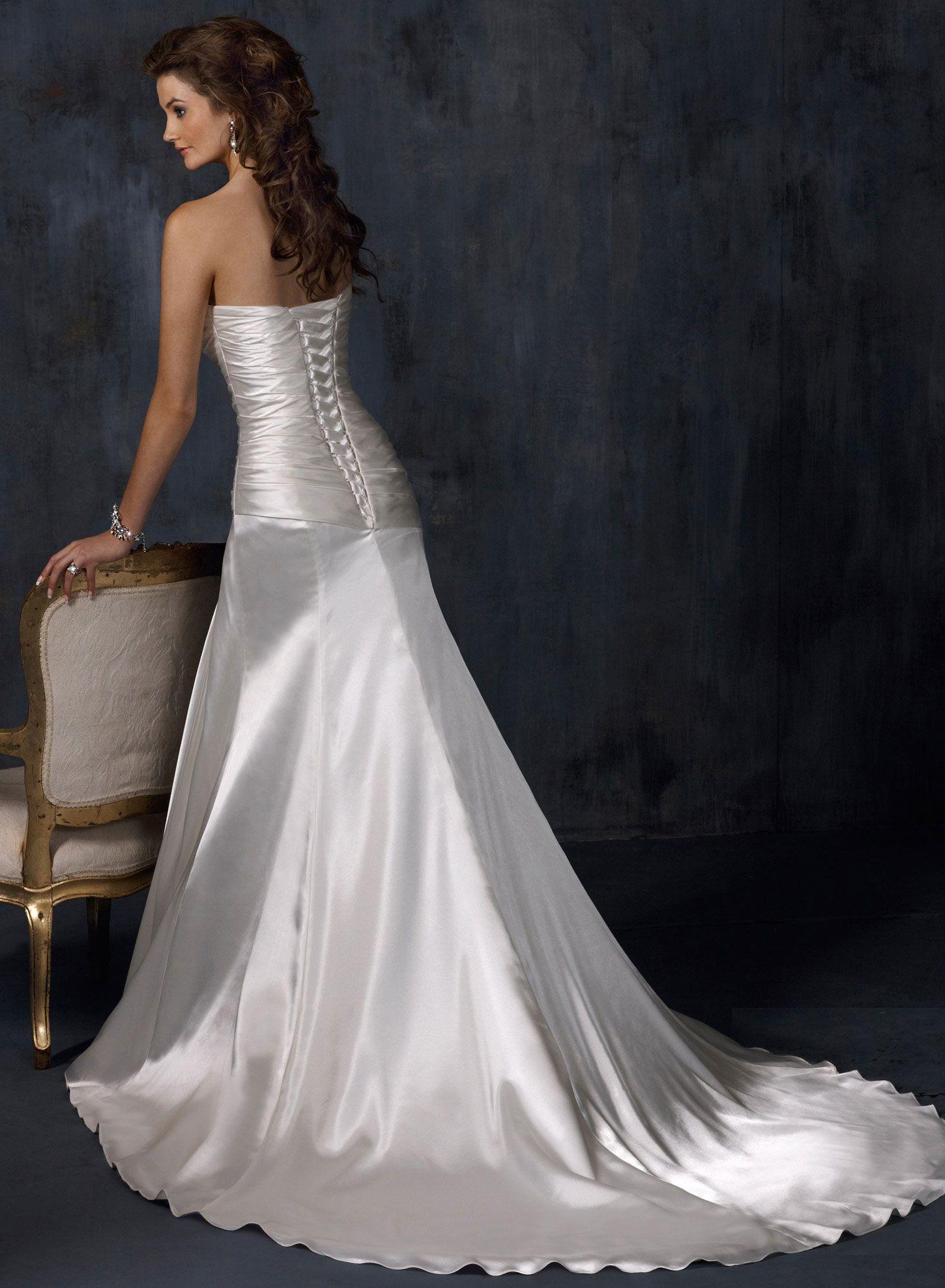 Silhouette wedding dresses simple bridal  Maggie Sottero Wedding Dresses  Maggie sottero White trash wedding