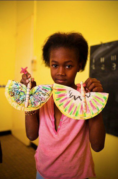 Kids Craft Senegal Butterfly Craft Coffee Filters