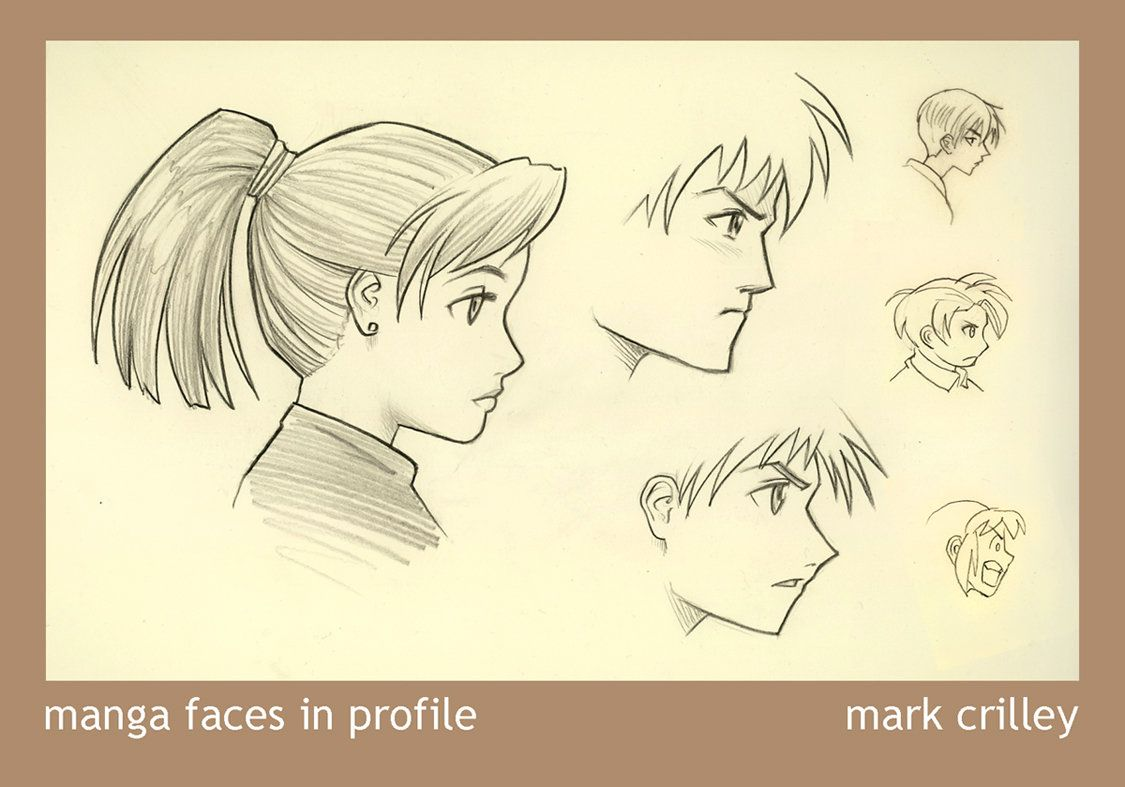 Manga Faces In Profile Anime Drawings Drawing People Manga