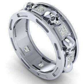 Custom Wedding Rings Custom Wedding Bands For Men And Women Skull Wedding Ring Rings For Men Custom Wedding Rings