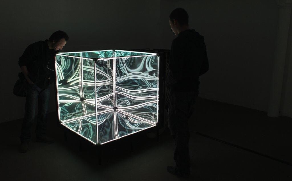 A Cube Made Out Of One Way Mirrors Mirror Reflection Two Way