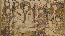 Balami - Tarikhnama - Abu'l-'Abbas al-Saffah is proclaimed the first 'Abbasid Caliph (cropped).jpg