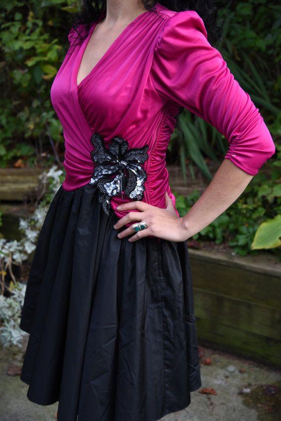 35eb6781470 Susan Roselli For Vijack Vintage dress 1980s 1950s Formal