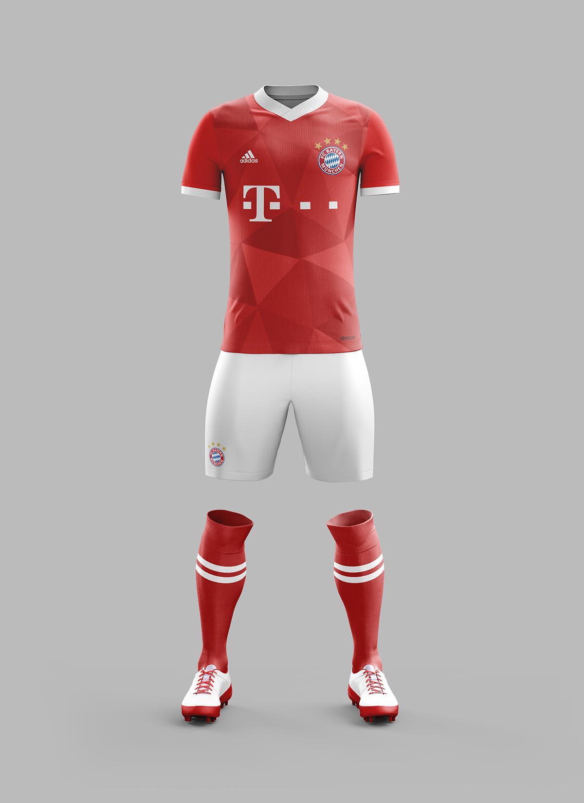 d6a5d89c243 Bayern Munich Home Kit Concept - 2017-2018 Season on Behance ...