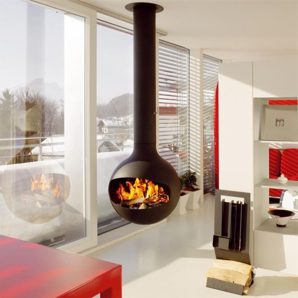 Cool Contemporary Free Standing Fireplace Gas Hanging Fireplace