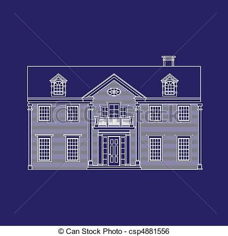 Vector house blueprint stock illustration royalty free vector house blueprint stock illustration royalty free illustrations stock clip art icon malvernweather Image collections