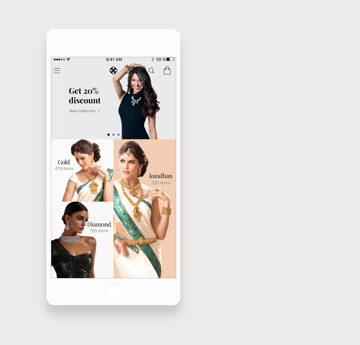 Jewellery App Home screen Looking for Inspiration For UI Designing ...