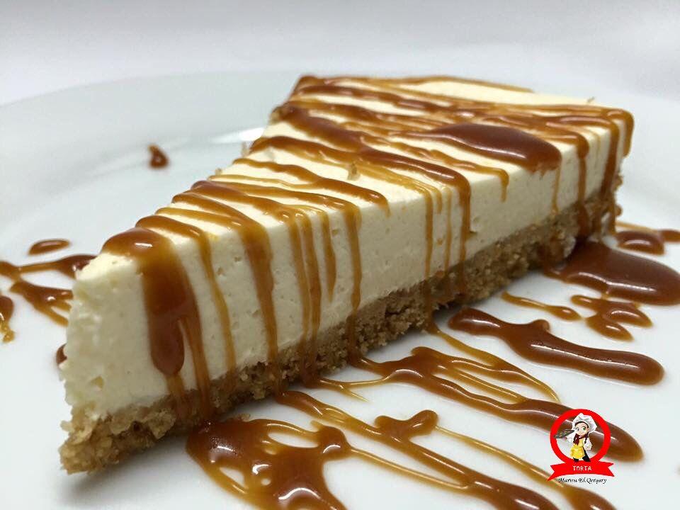 تشيز كيك بصوص الكراميل Cheesecake Desserts Food