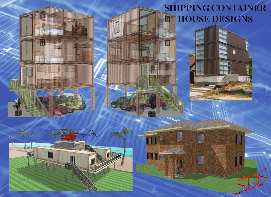 Shipping crate home designs