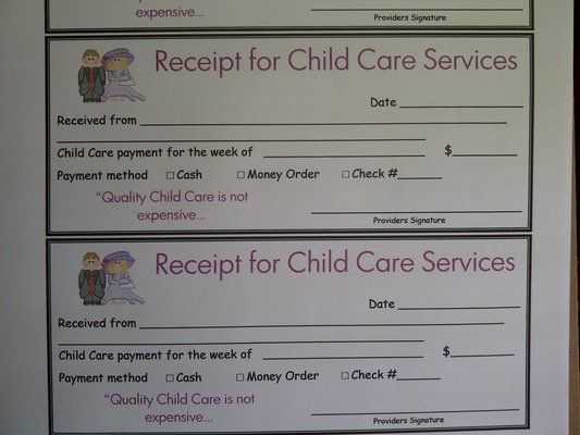 Wybron Family Daycare Yelp Receipt Template Child Care Services Childcare