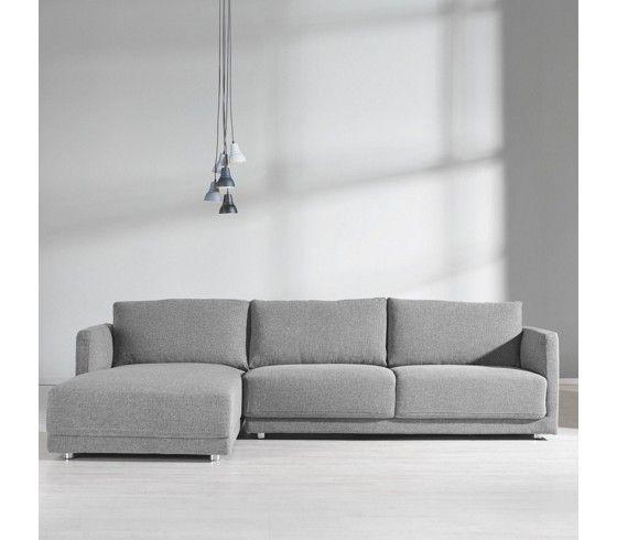Modernes Sofa modernes sofa in grau geradlinige optik und bequemer komfort
