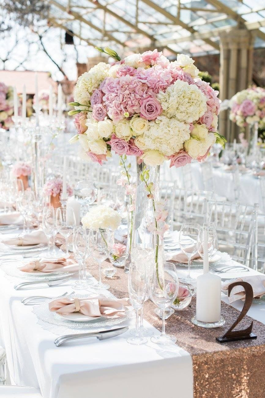 romantic and lush white and blush pink flower centerpieces using rh pinterest com Navy Flower Centerpieces Blush Flower Arrangements