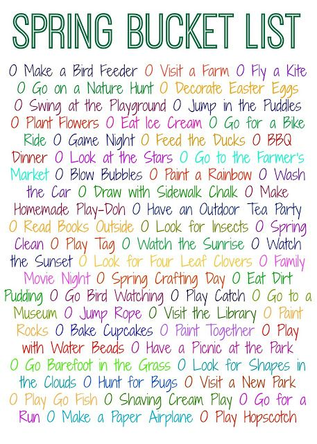 50 Things To Do This Spring Free Printable Family Fun Spring