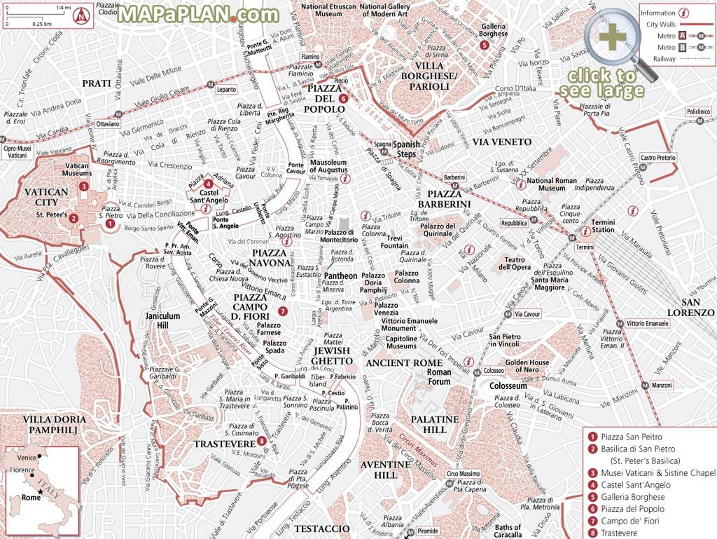 Rome In Days Explore The Most Famous Locations Trip Rome Top - Rome tourist map attractions