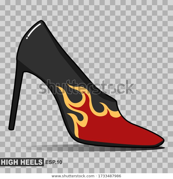 Illustration Black High Heels Woman High Stock Vector Royalty Free 1733487986 Womens High Heels Black High Heels Heels