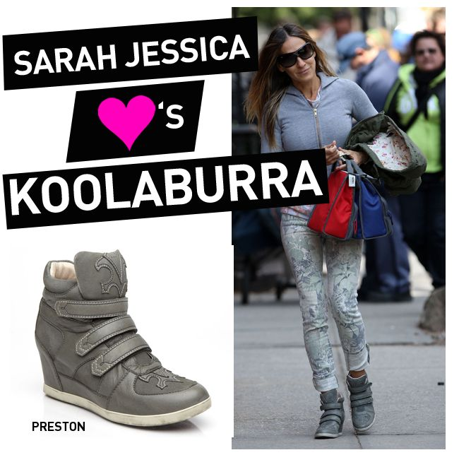 795a62fab15b Sarah Jessica Parker wears the Koolaburra PRESTON Sneaker Wedge ...