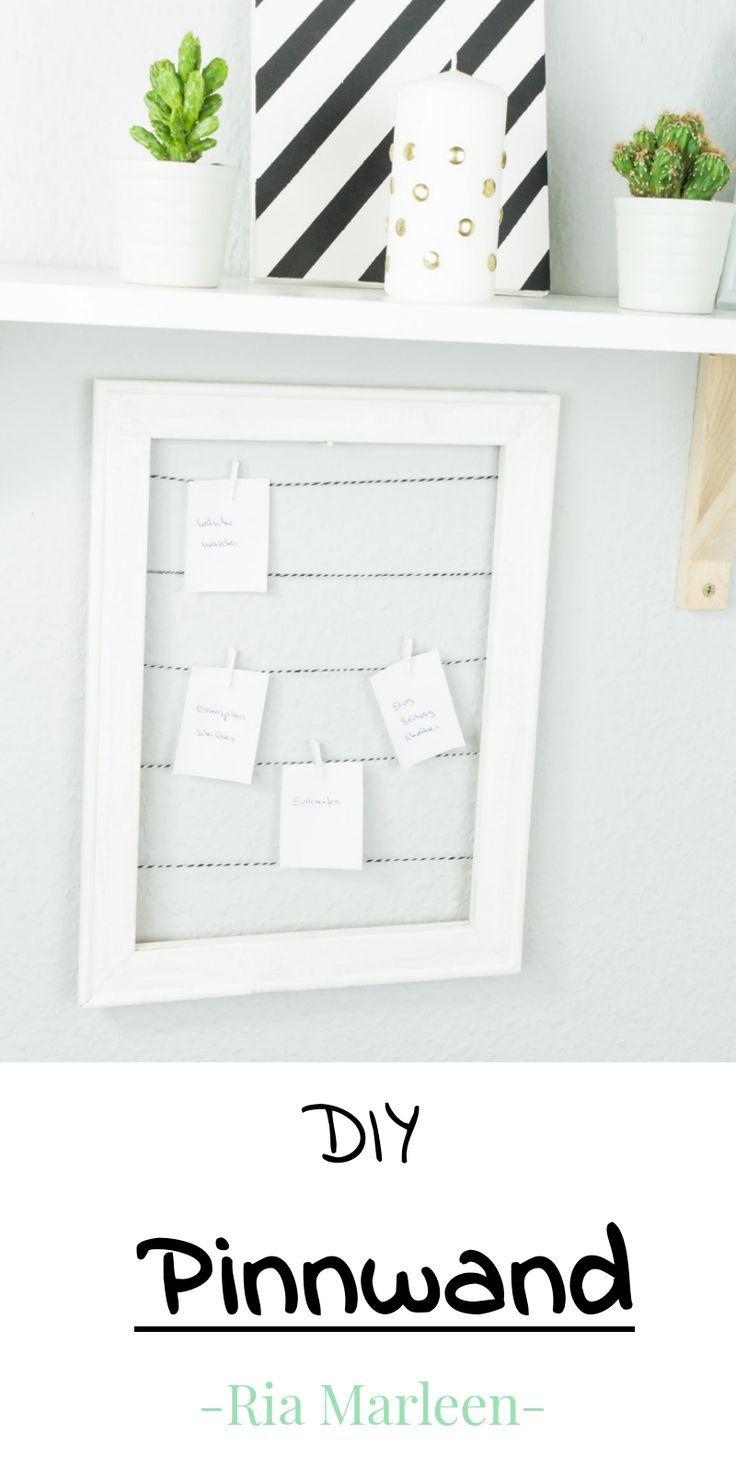 DIY Pinnwand aus Holzrahmen basteln - schnelle Upcycling Idee #upcyclingideen
