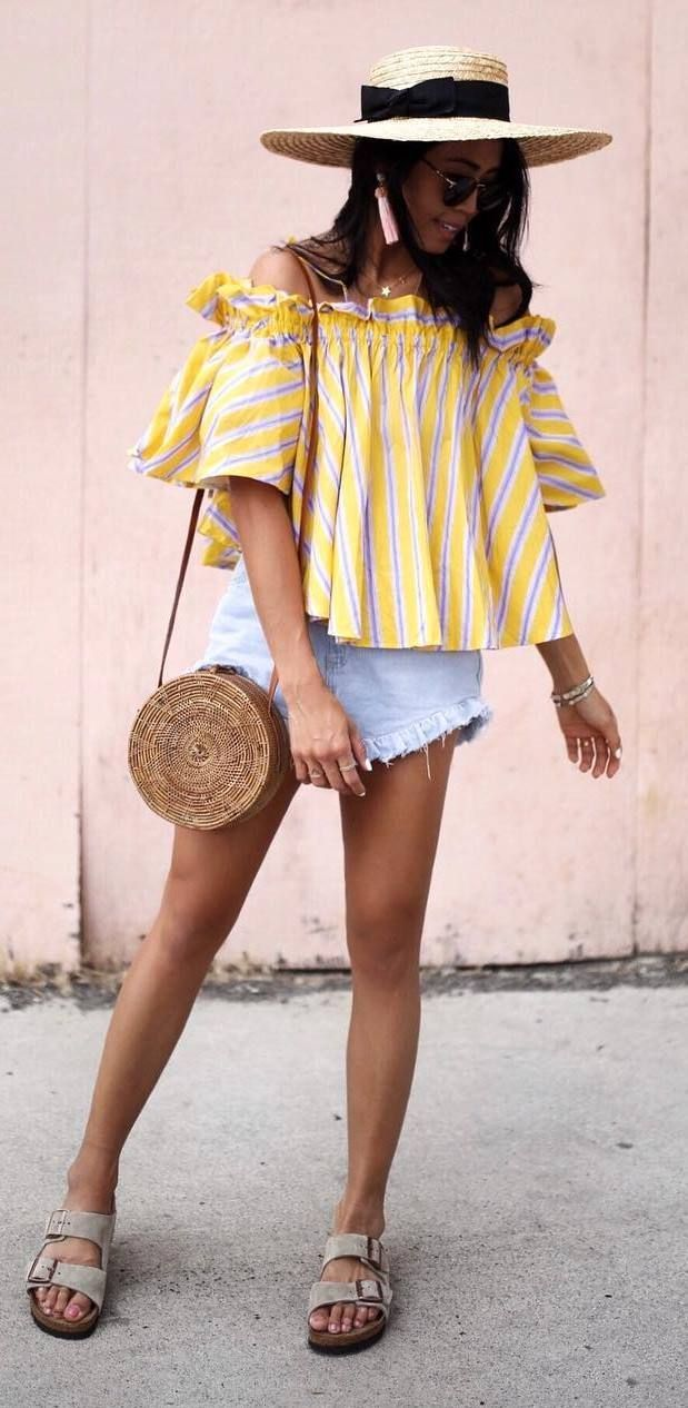 Very Cute Summer Outfit. This Would Look Good Paired With Any Shoes. The Best of summer outfits in 2017.
