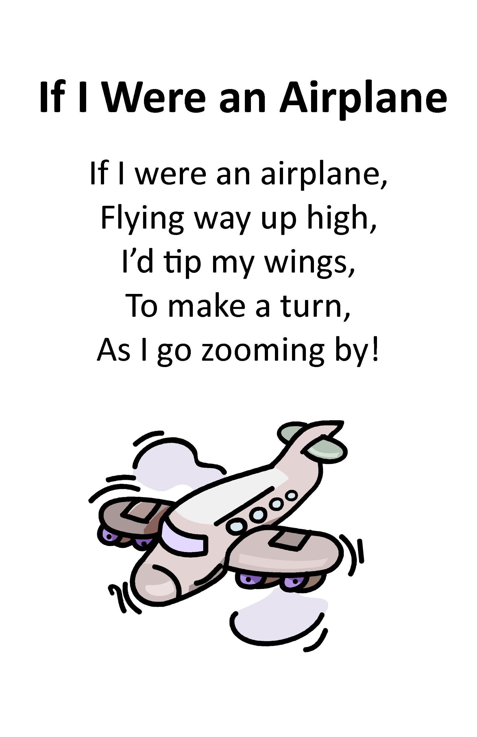 Itty Bitty Rhyme If I Were An Airplane Itty Bitty