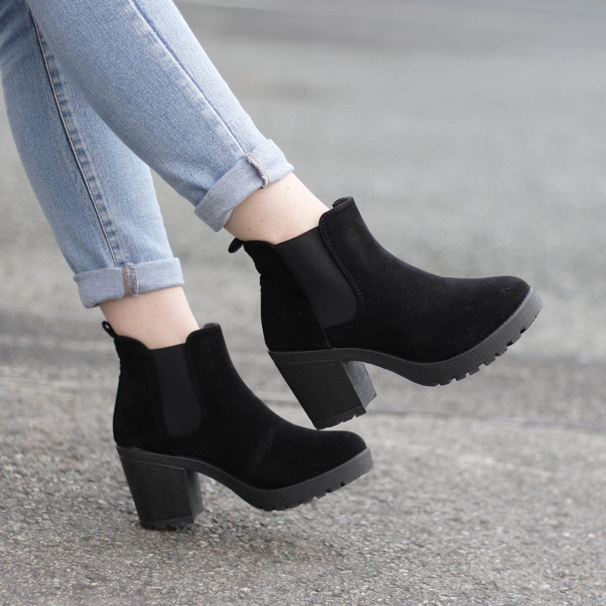 7b5ea3e62 cUTE black suede boots for winter - jean + black boot outfits are perfect  to throw on when in the rush AND still look bomb! Korky s Shoes IRE on  Twitter  ...