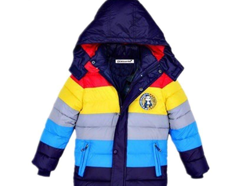 929c8caddf06 On Sale Children Jackets Boys stripe Winter down coat 2018 Baby ...