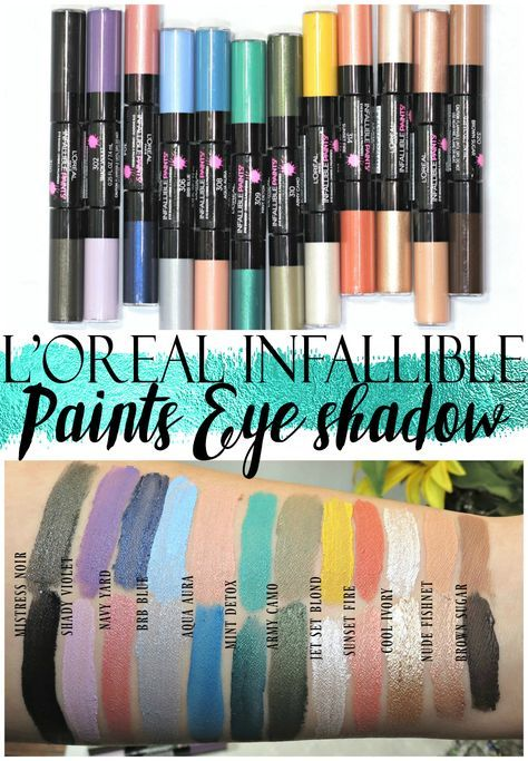LOreal Infallible Paints Eyeshadow Swatches + Review