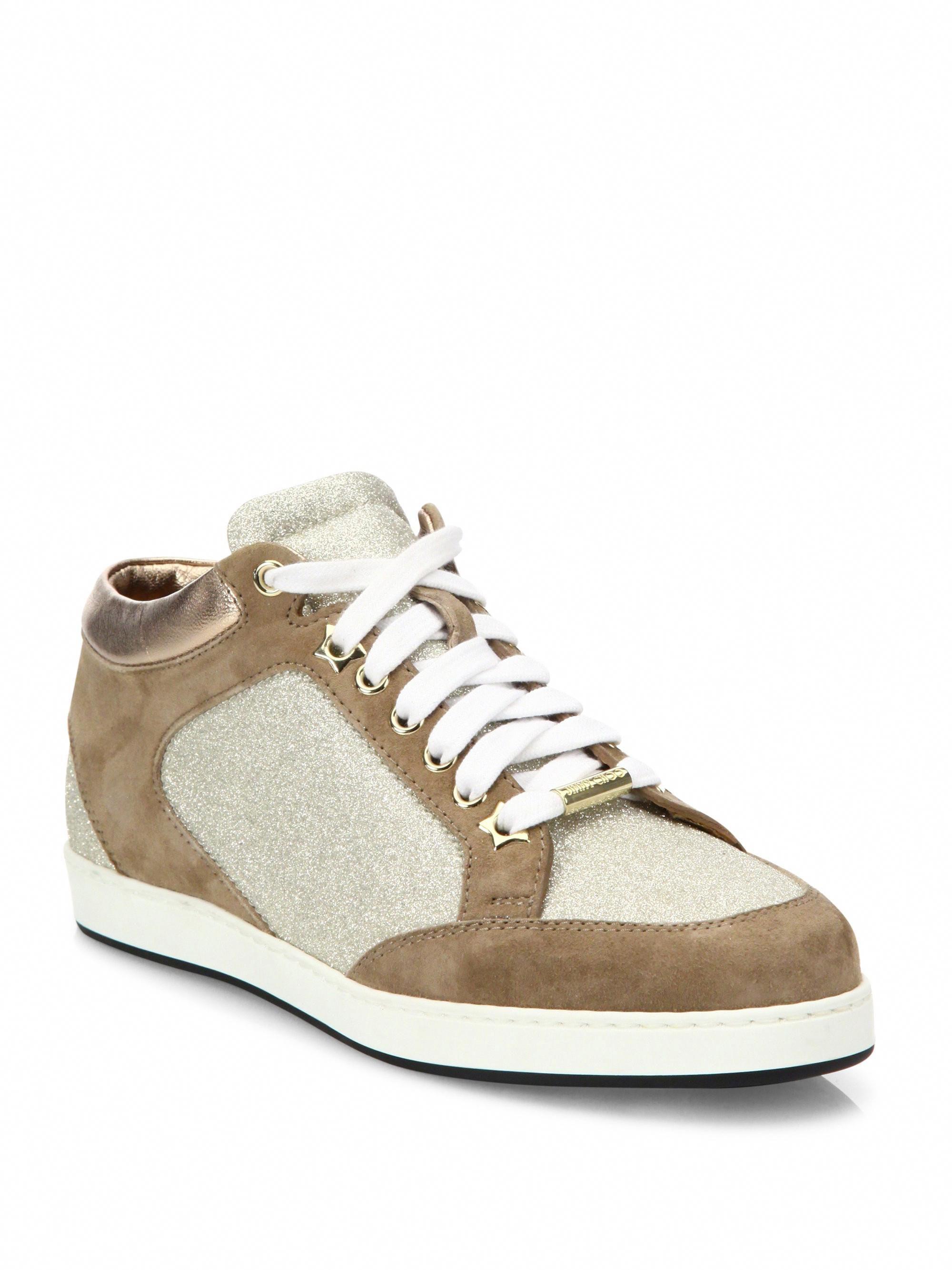 44e55a2da94 Jimmy Choo Miami Suede   Glitter Sneakers - Coco 38.5 (8.5)  JimmyChoo