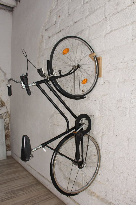 tokyo bike rack bike wall mount wooden wall hooks natural support velo tokyo et support. Black Bedroom Furniture Sets. Home Design Ideas