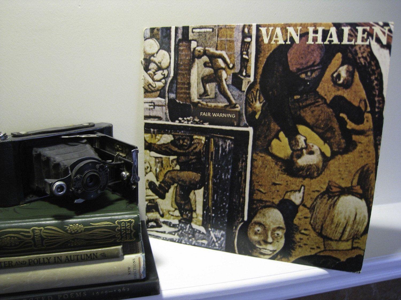 Van Halen Vintage Vinyl Lp 1980s Classic Rock Hard Rock Air Guitar Eddie Van Halen David Lee Roth Fair Warning 1981 Wb Vintage Vinyl Van Halen Van Halen Fair Warning Vinyl