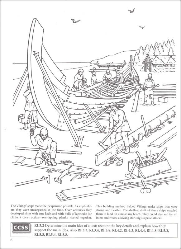 Story of the Vikings Coloring Book (Boost Series