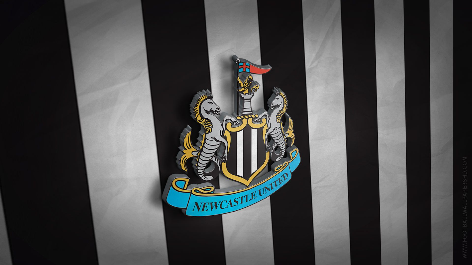 Newcastle United 3D Logo Wallpaper