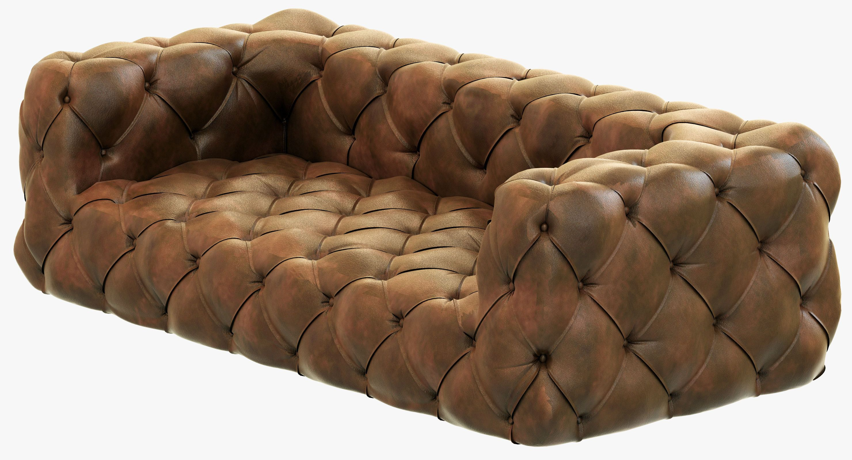 Enjoyable Restoration Hardware Soho Tufted Leather Sofa 3D Model Max Download Free Architecture Designs Grimeyleaguecom