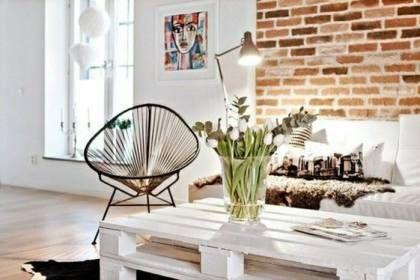 Idées Pour Une Table Basse Avec Palette Cuisine Style - Deco table basse palette pour idees de deco de cuisine