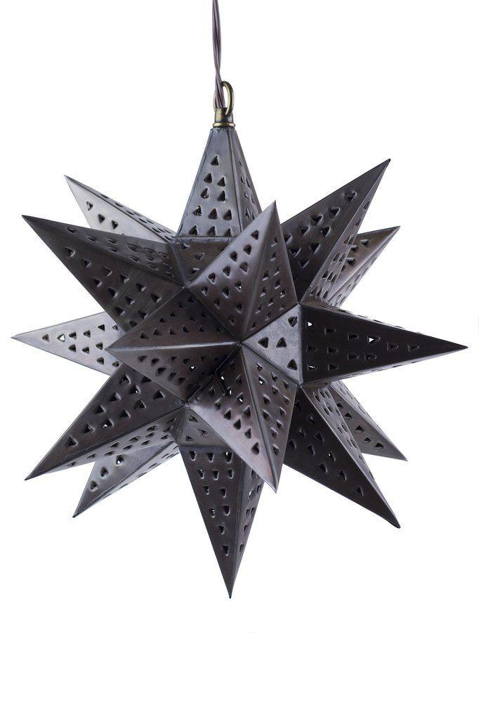 Punched Tin Star Hanging Light Fixture | ShopMucho | Lighting Design ...