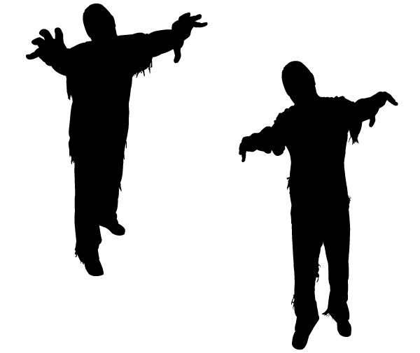 Buy 2 Get 1 Free Digital Clipart Zombie Silhouettes Walking Etsy In 2021 Zombie Silhouette Halloween Silhouettes Zombie