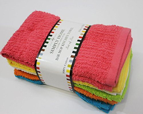 Simply Home 6 Pack Bar Mop Kitchen Towels Pastels Simply Http Www Amazon Com Dp B00ld8ebbm Ref