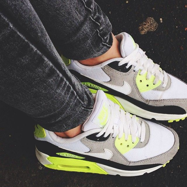 White and neon green nike air max (mit Bildern) | Nike