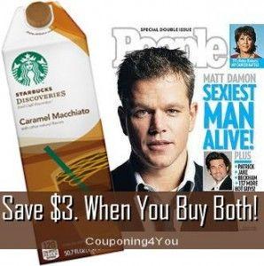 Save $3. on People + Starbucks