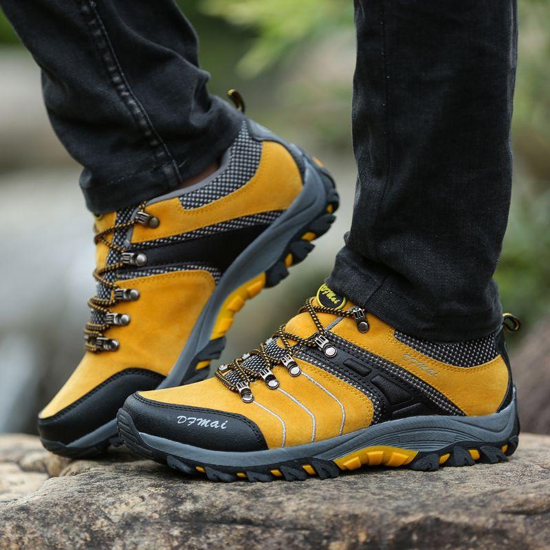 Outdoor Hiking Trekking Trekking Trekking Botas Waterproof Botas Brand Hombre canvas aadd51