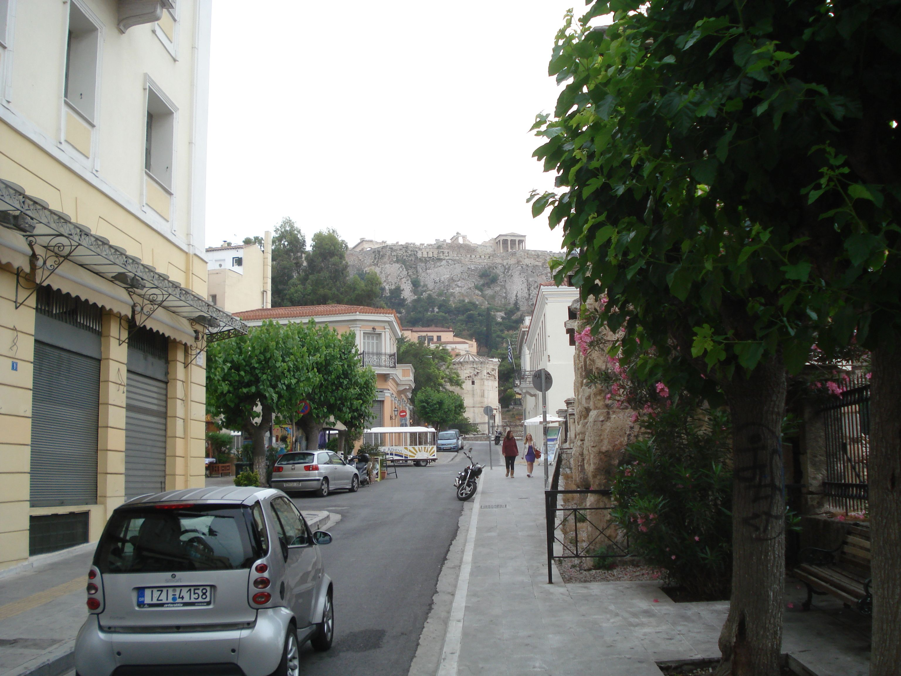 A Street Scene in Athens. The Akropolis is always present!