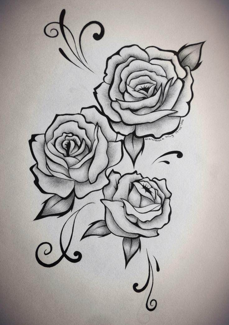 Картинки розы татушки