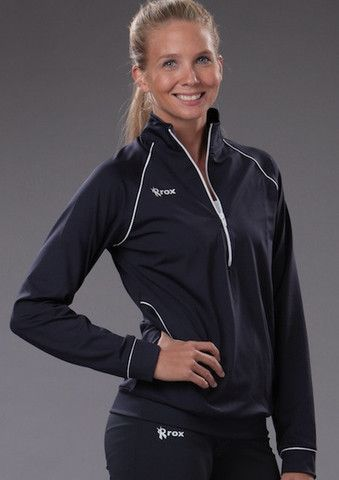 women's navy 1/4 zip cobra pullover  pullover warmup